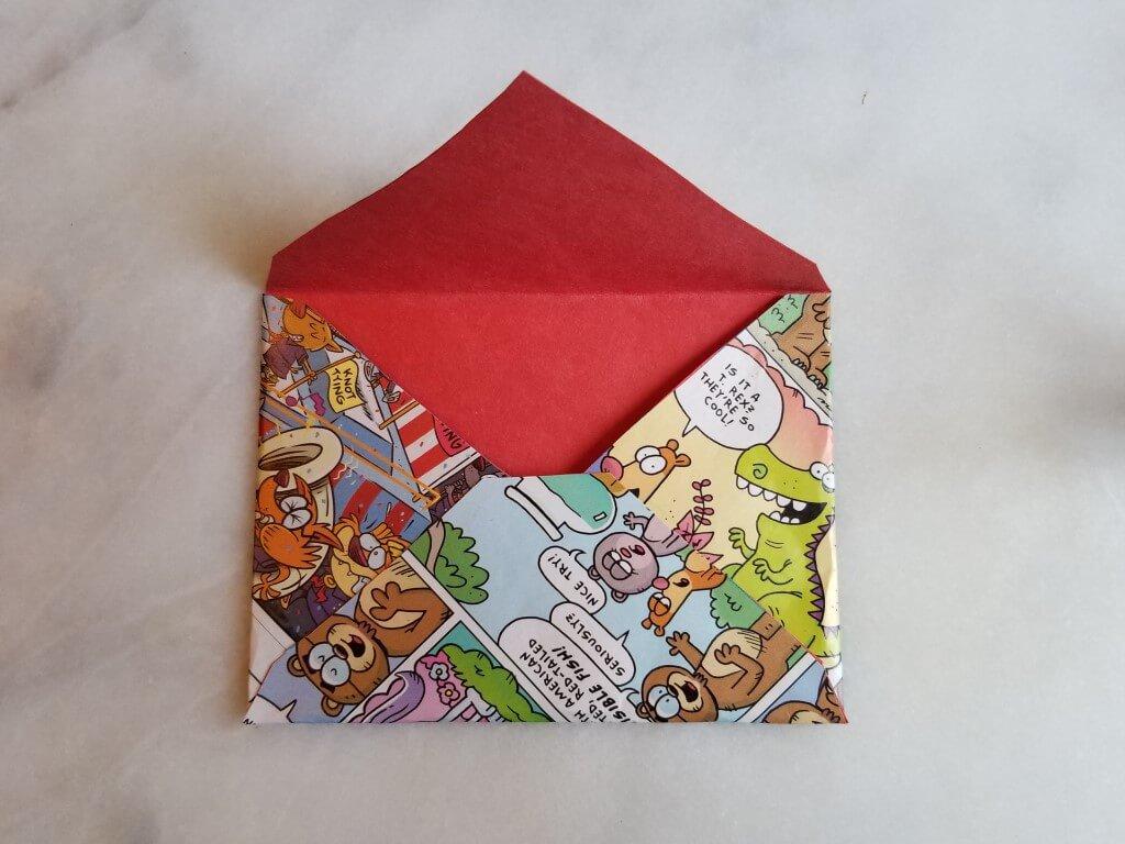 how to make envelopes: step 6