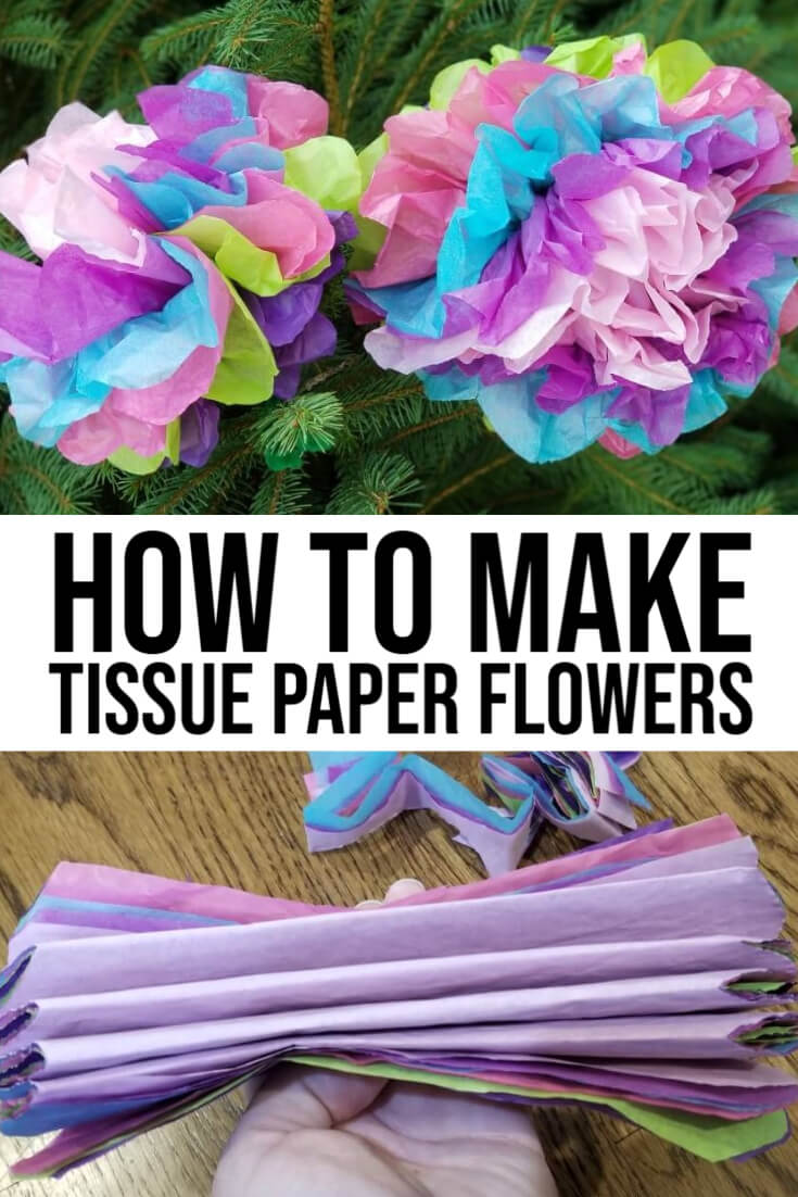 how to make tissue paper flowers easy fast