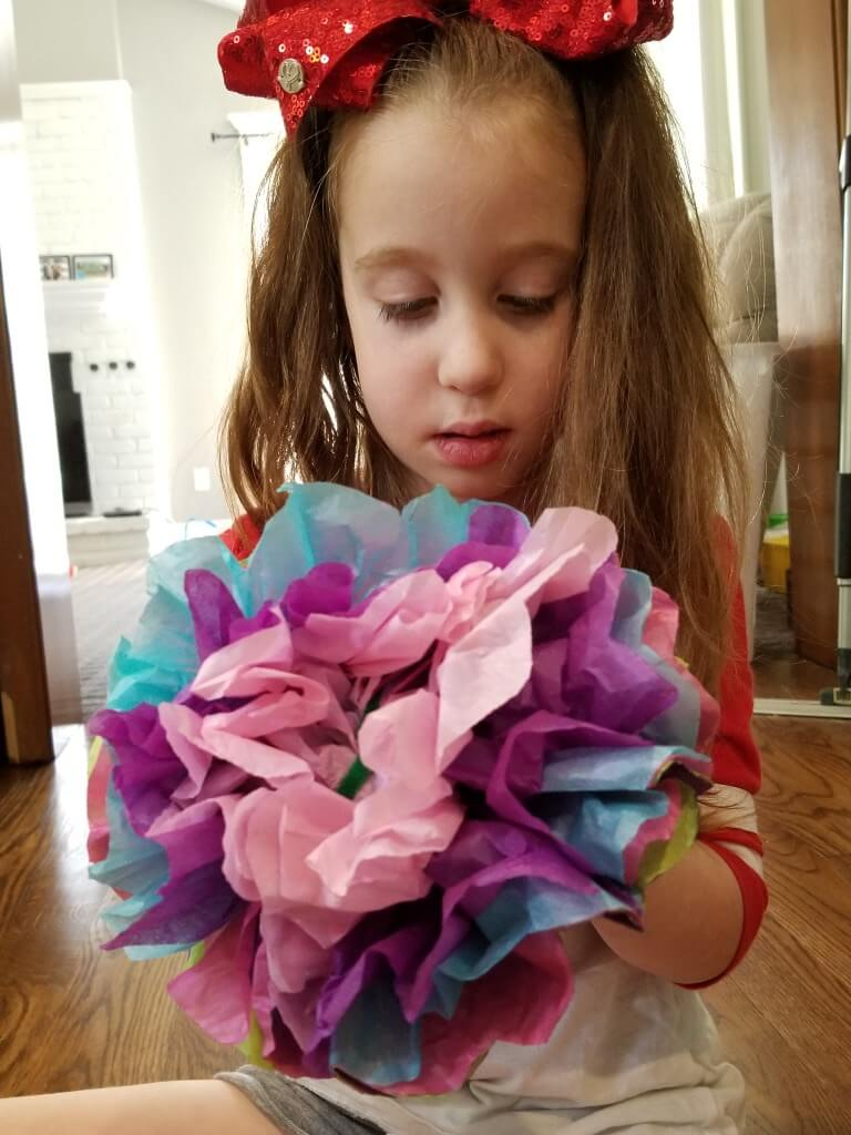 how to peel paper tissue flowers
