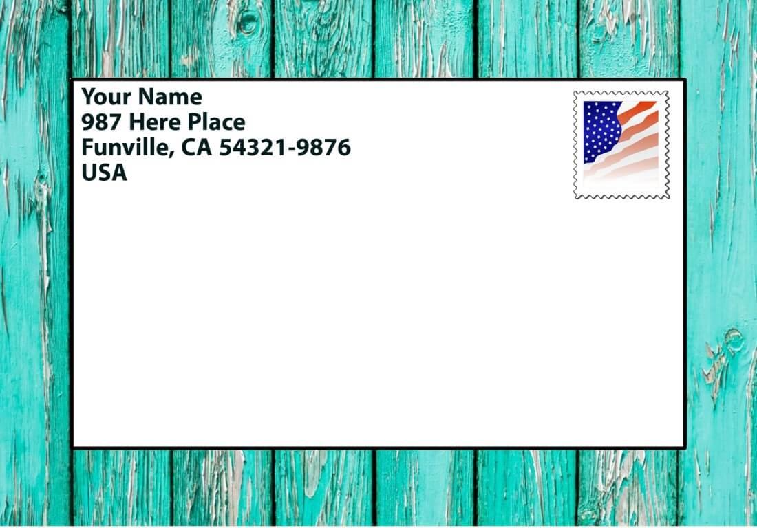how to write sender's (return) address