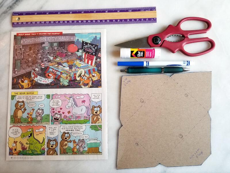 materials for making DIY envelopes
