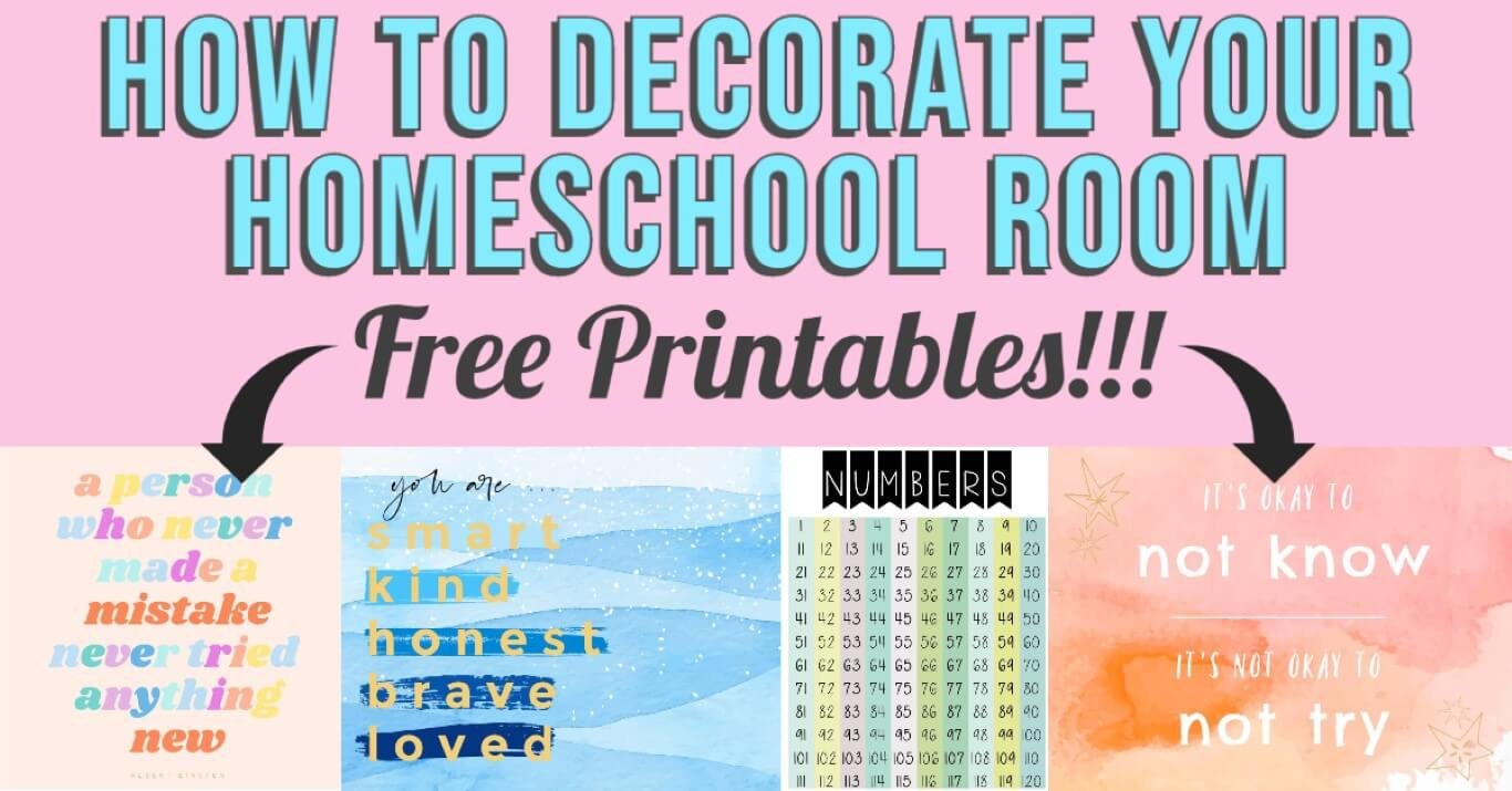 How to Decorate a Homeschool Room on a Budget