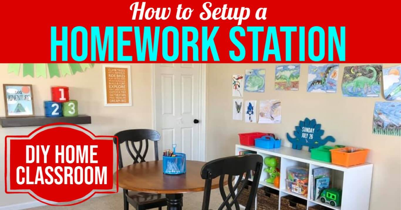 How to Setup a Homework Station - DIY Home Classroom - Virtual Learning