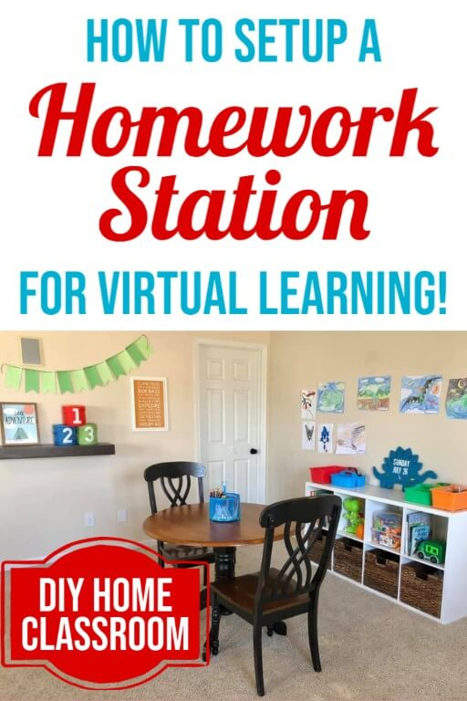 How to Setup a Homework Station for virtual learning