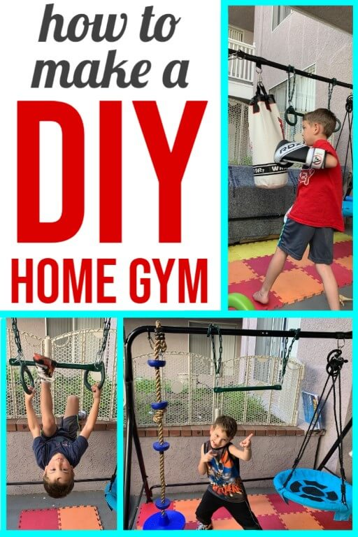 Kids DIY Home Gym