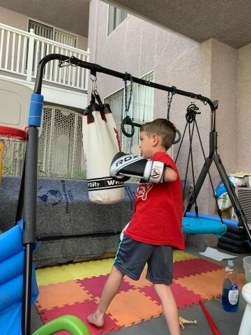 Punching Bag Home Gym for Kids