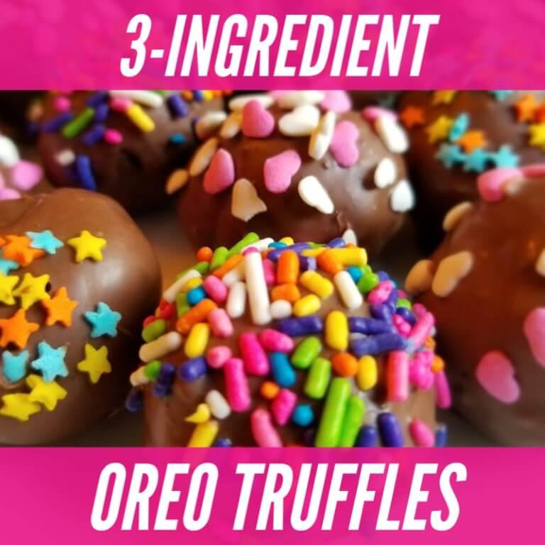 recipe for OREO balls or truffles